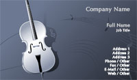 Cello Business Card Template
